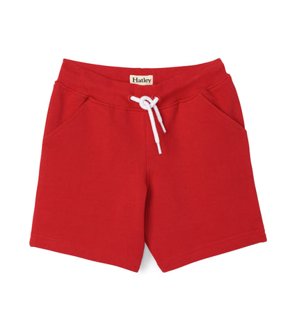 Hatley Kids Red Terry Shorts