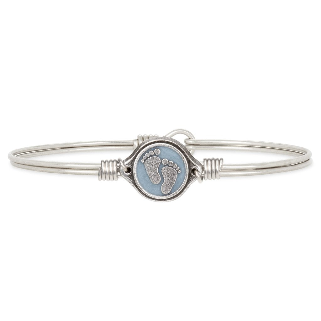 Luca + Danni Little Footsteps Bangle Bracelet - Blue