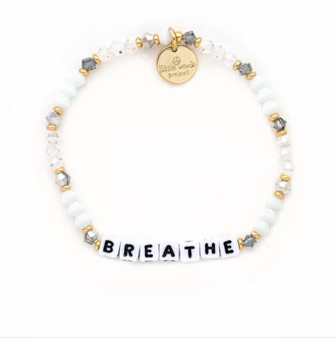 Little Words Project Beaded White - Breathe