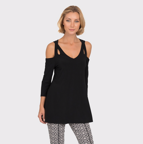 Joseph Ribkoff Strappy Cold Shoulder Tunic