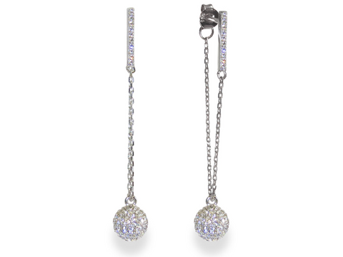 Liza Schwartz Champagne Crystal Drop Earrings