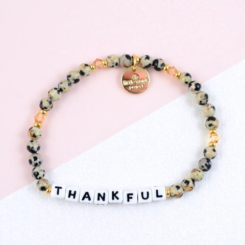 Little Words Project Beaded White - Thankful