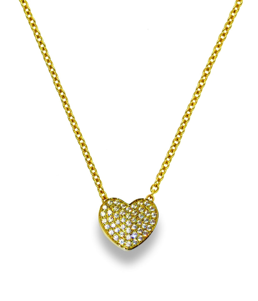 Liza Schwartz Touch My Heart Necklace Gold