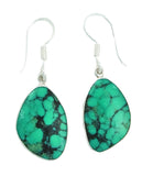 Charles Albert Sterling Silver Turquoise Drop Earrings - ShopBody.com