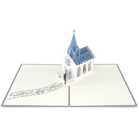 Lovepop Wedding Chapel 3D Card