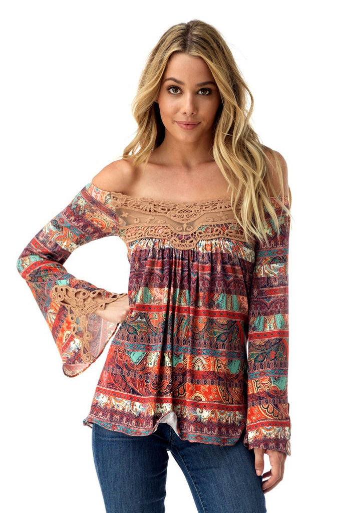 Sky Abba Off Shoulder Top - ShopBody.com - 1
