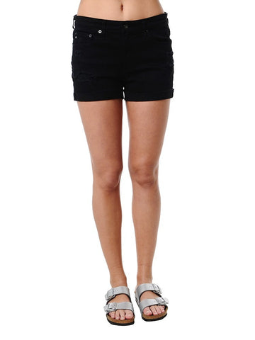 AG The Hailey Short Destructed Worn Black