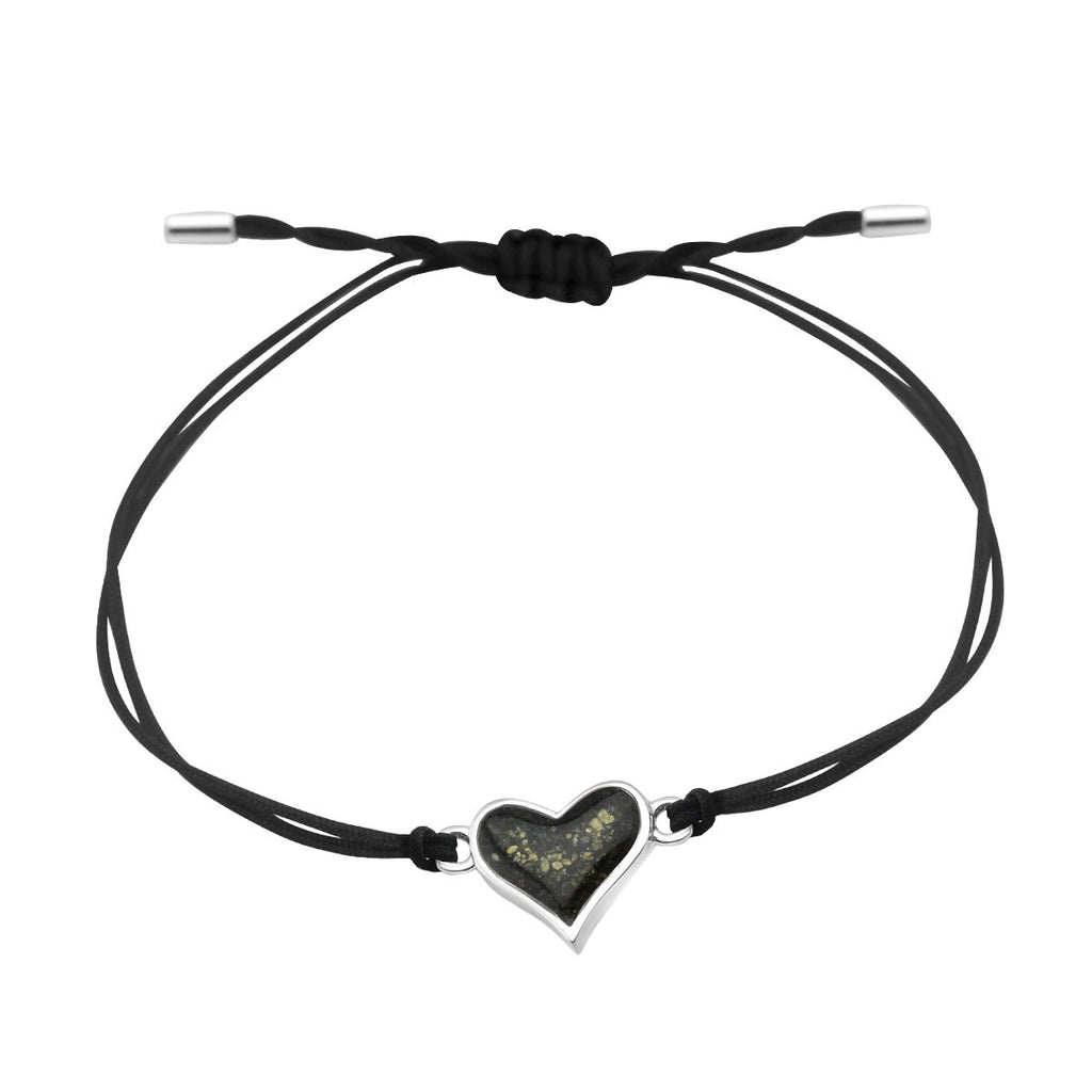 Dune Jewelry Black Cord Bracelet- Heart