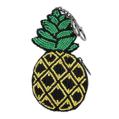 Mary Frances Spiked Beaded Pineapple Coin Purse