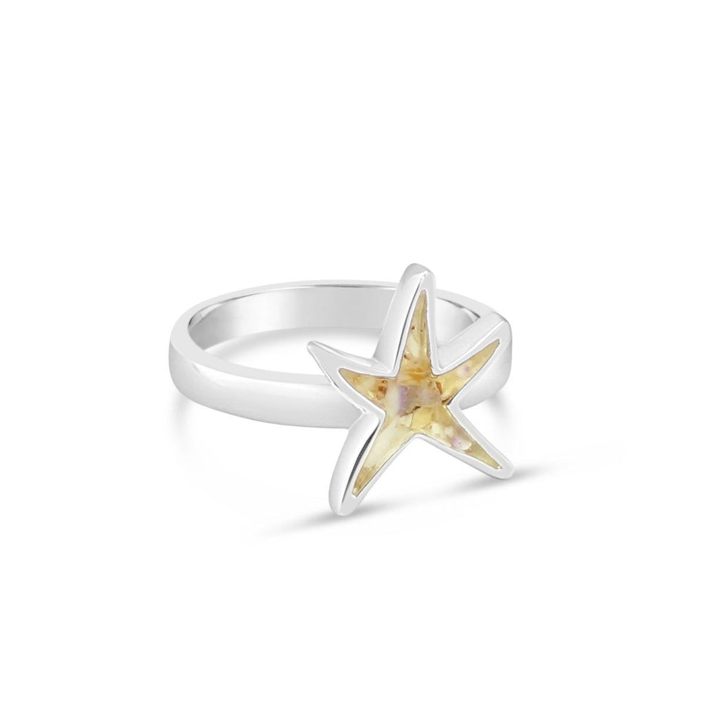 Dune Jewelry Delicate Starfish Shaped Ring