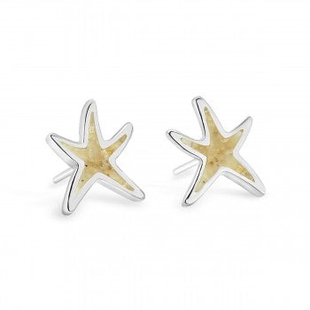 Dune Jewelry Delicate Starfish Shaped Stud Earrings