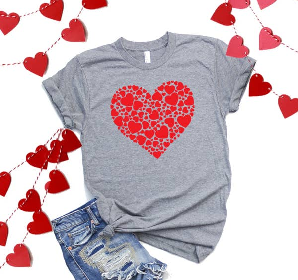 Top Crate Valentine Graphic Shirt- HOH