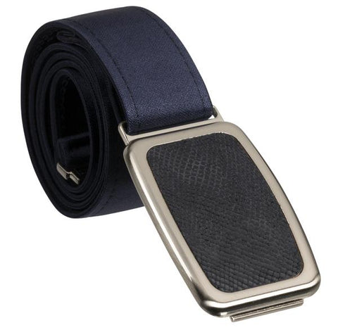 Hipsi Adjustable Belt & Flat Buckle - Navy