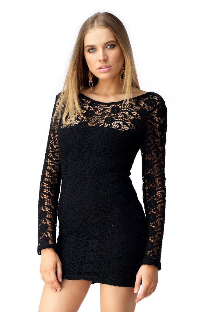 Sky Huitzil Crochet Mini Dress - ShopBody.com - 1