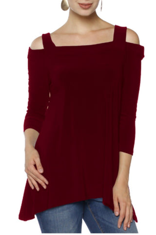 Last Tango Cold Shoulder Tunic