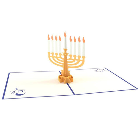 Lovepop Hanukkah Menorah 3D card