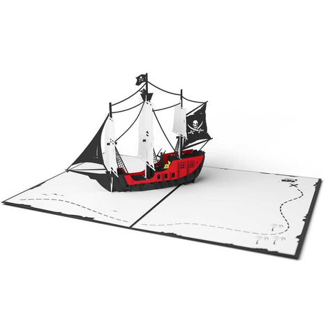 Lovepop Pirate Ship Card