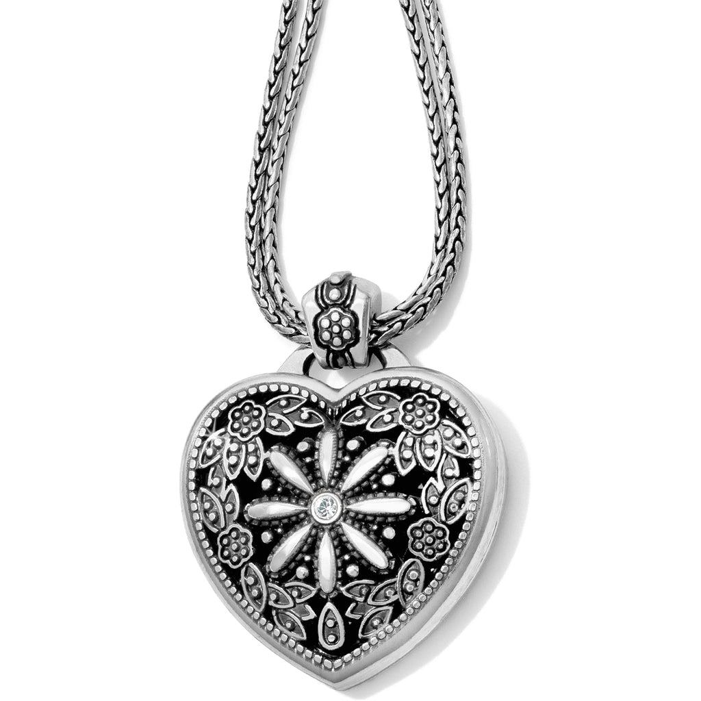 Brighton Floral Heart Single Locket