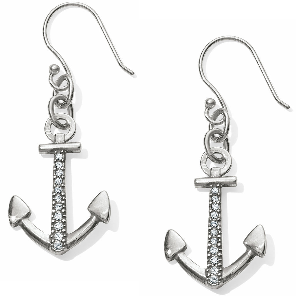 Brighton Coastline Reversible Anchor French Wire Earrings