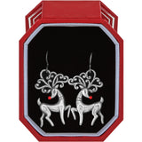 Brighton Reindeer French Wire Earrings Boxed