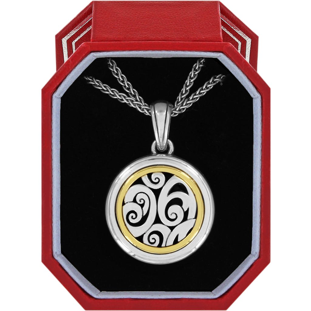 Brighton Spin Master Convertible Locket Necklace Gift Box