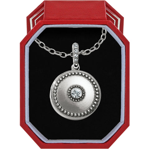 Brighton Twinkle Small Round Locket Necklace Box Set