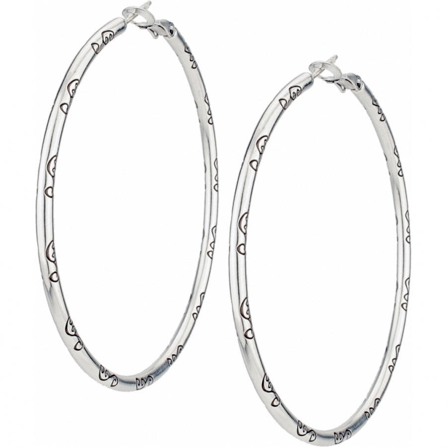 Brighton Grande Hoop Charm Earrings