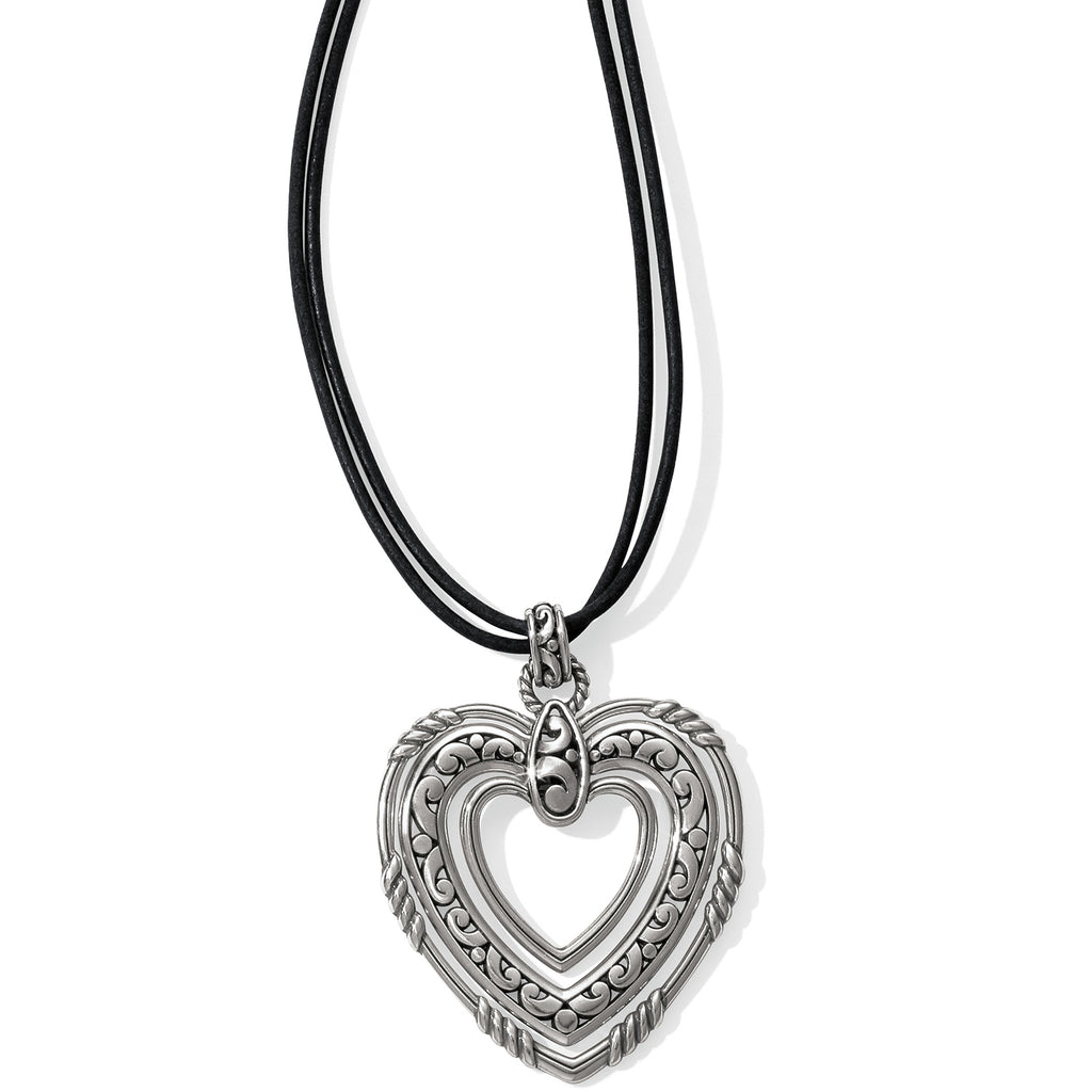 Brighton Contempo Trio Forever Heart Necklace