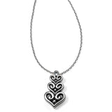 Brighton Alcazar Heart Trio Short Necklace
