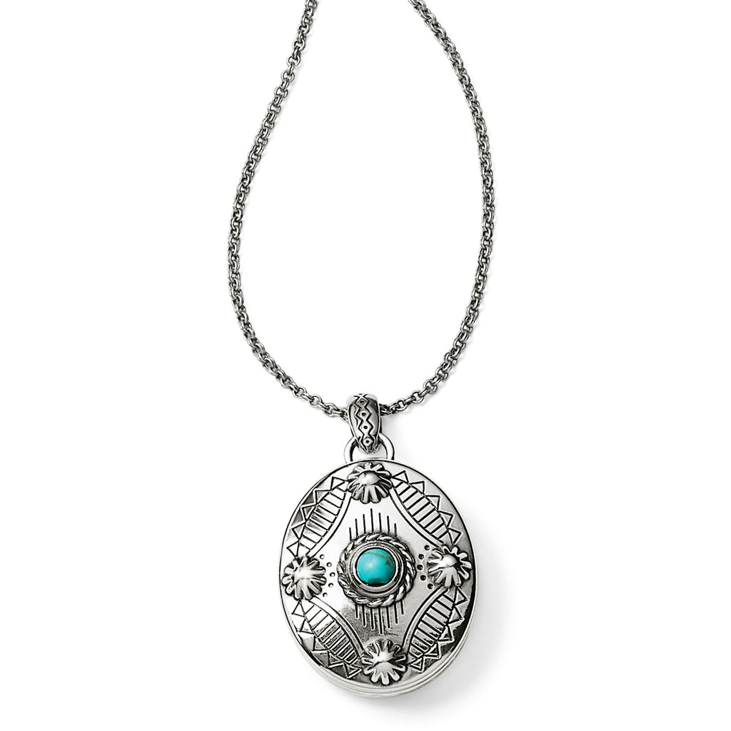 Brighton Southwest Dream Oval Locket Necklace