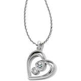 Brighton Infinity Sparkle Petite Heart Necklace
