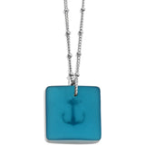 Brighton Sea Shore Anchor Glass Necklace