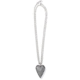 Brighton Glisten Heart Convertible Necklace