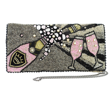 Mary Frances Come to the Party Champagne Crossbody Clutch
