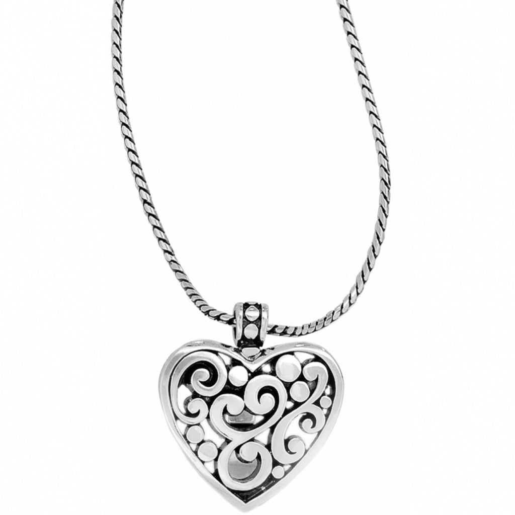 Brighton Contempo Heart Badge Clip Necklace