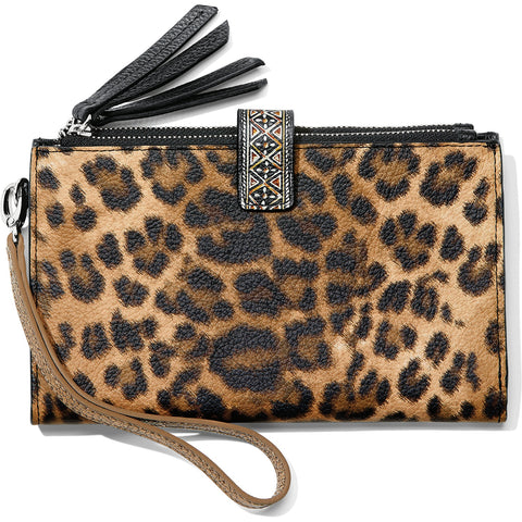 Brighton Africa Stories Double Zip Wallet