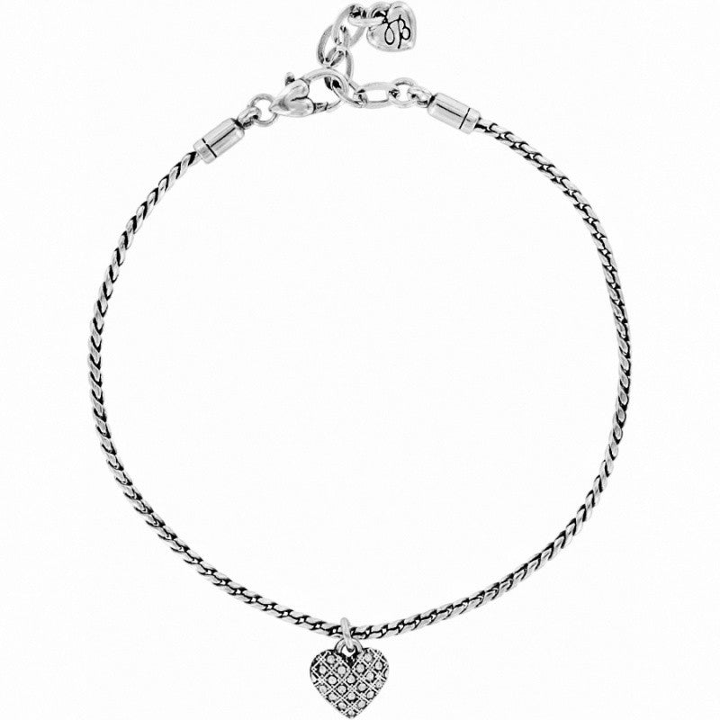 collections diamonds heart open anklet charm y diamond large romancing