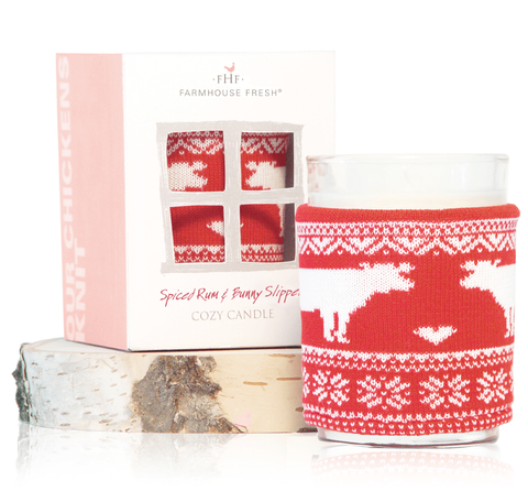 Farmhouse Fresh Spiced Rum & Bunny Slippers Cozy Sweater Candle