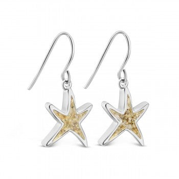 Dune Jewelry Delicate Starfish Shaped Drop Earrings
