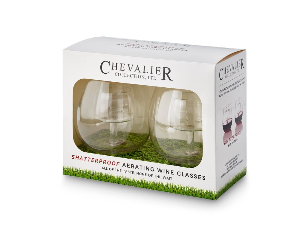Chevalier Shatterproof Aerating Wine Glass Set