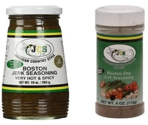 Boston Jerk Seasoning and Dry Jerk Seasoning Bundle - Jamapchi