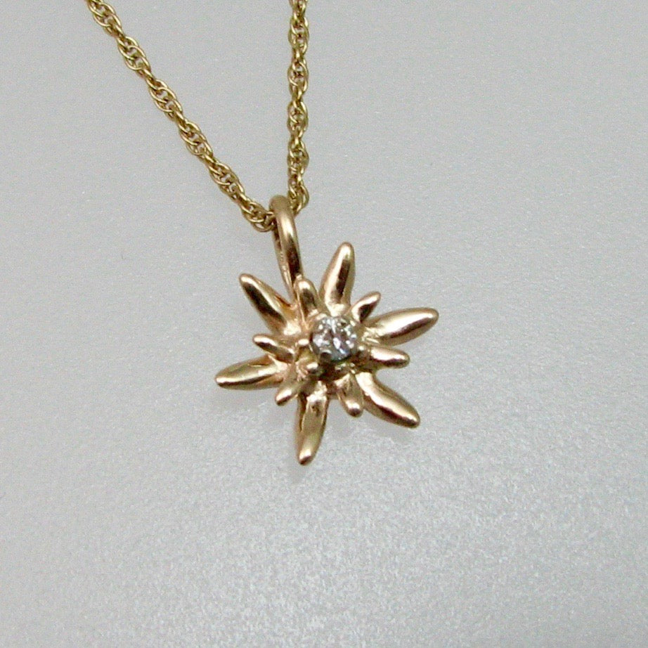 Edelweiss Pendant Small with Diamond