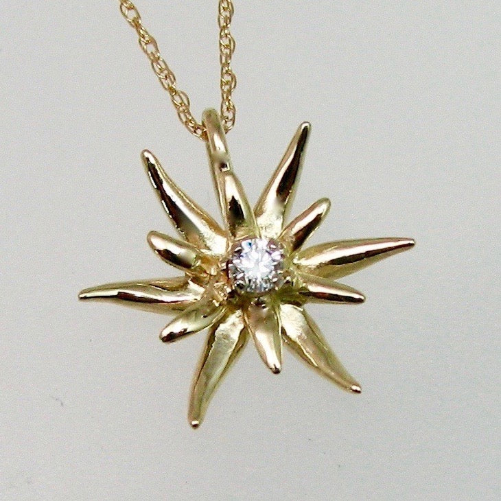 Edelweiss Pendant Large with Diamond