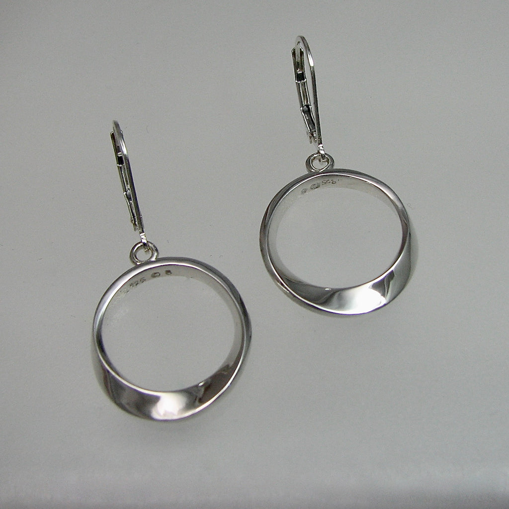 Mobius Drop Earrings with Leverbacks