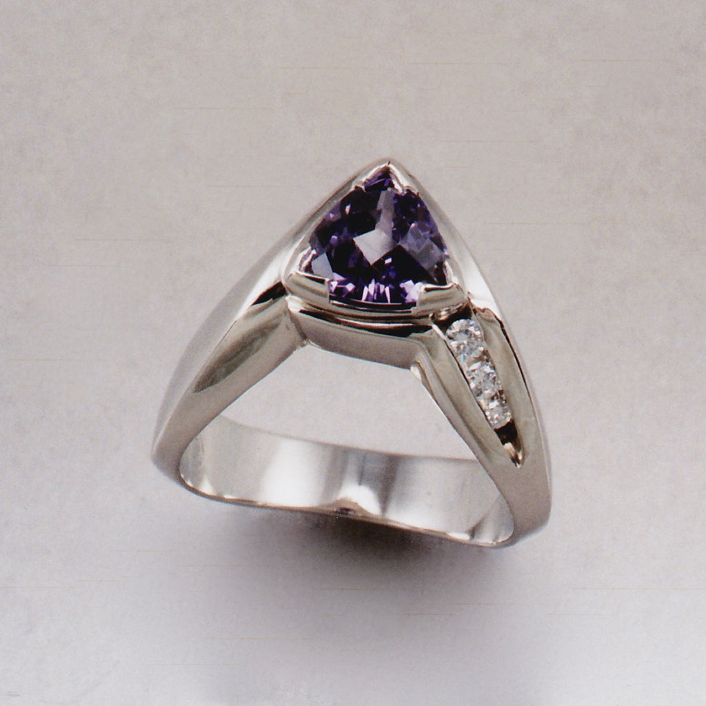 Arc Triad Ring #2,Custom,custom jewelry designer,custom jewelry design, Handmade jewelry, handcrafted, fine jewelry designs, designer goldsmiths, unique jewelry designs, northwest jewelry, northwest jewelry designers, pacific northwest jewelry,