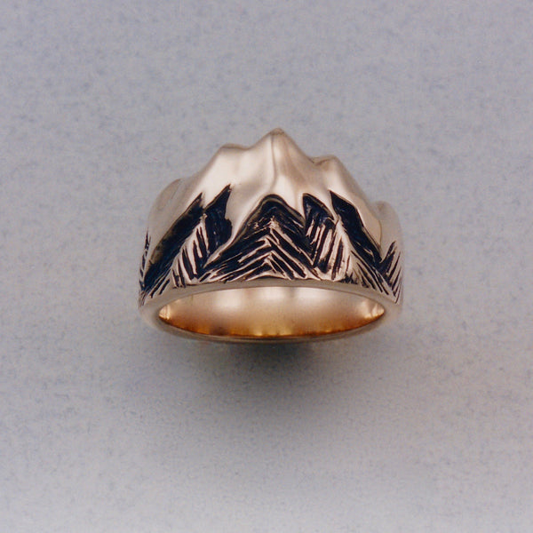 Glacier Peak Ring, Mountain Jewelry, Cascade Jewelry, Cascade Range Jewelry, Mountain Theme Jewelry, Leavenworth Mountain Jewelry, Mountain Rings, Mountain Pendants,