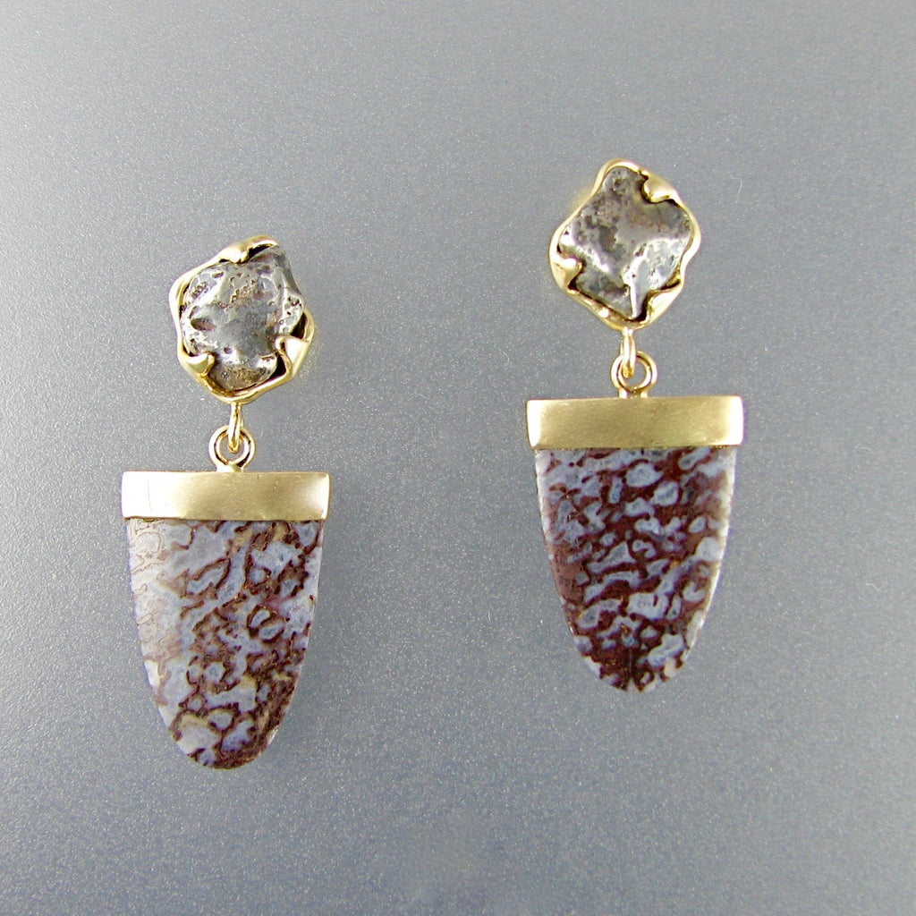 Dino Bone Earrings,Custom,custom jewelry designer,custom jewelry design, Handmade jewelry, handcrafted, fine jewelry designs, designer goldsmiths, unique jewelry designs, northwest jewelry, northwest jewelry designers, pacific northwest jewelry,