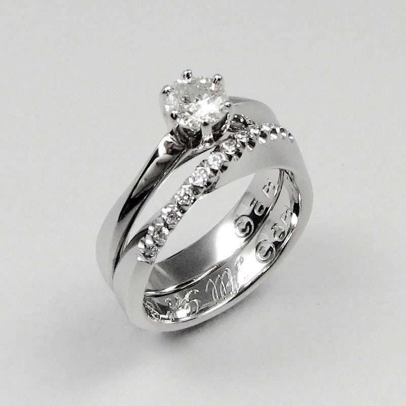 Mbius Ring and Wedding Band stling Jewelry Design