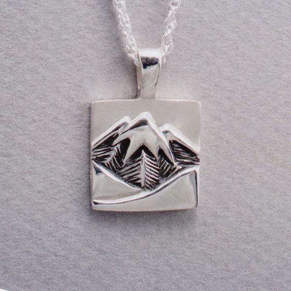 Glacier Peak Pendant, Mountain Jewelry, Cascade Jewelry, Cascade Range Jewelry, Mountain Theme Jewelry, Leavenworth Mountain Jewelry, Mountain Rings, Mountain Pendants,
