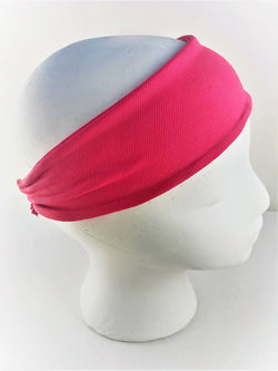 High Performance Sweat-Wicking Headband in Magenta